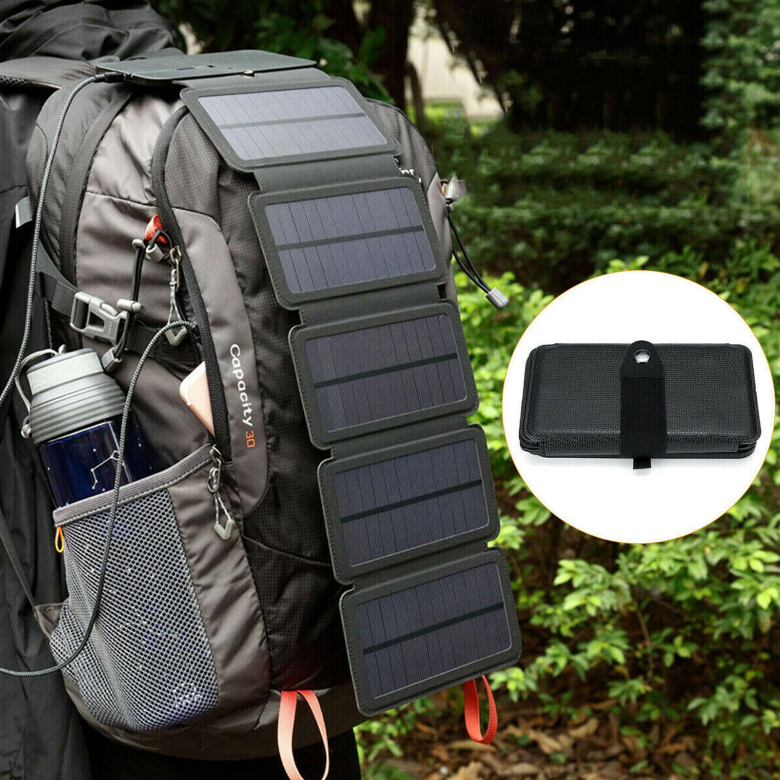 Tragbares Solar-Handy-Ladegerät Power Bank Wasserdichtes Camping im Freien