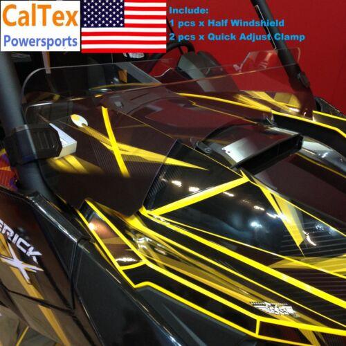 New Can-Am Maverick X3 Half Windshield with 2 Qucik Adjust Clamps