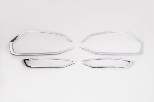 ALL NEW TUCSON Chrome Fog Lamp Garnish Molding Trim 4p For 2016 Hyundai Tucson