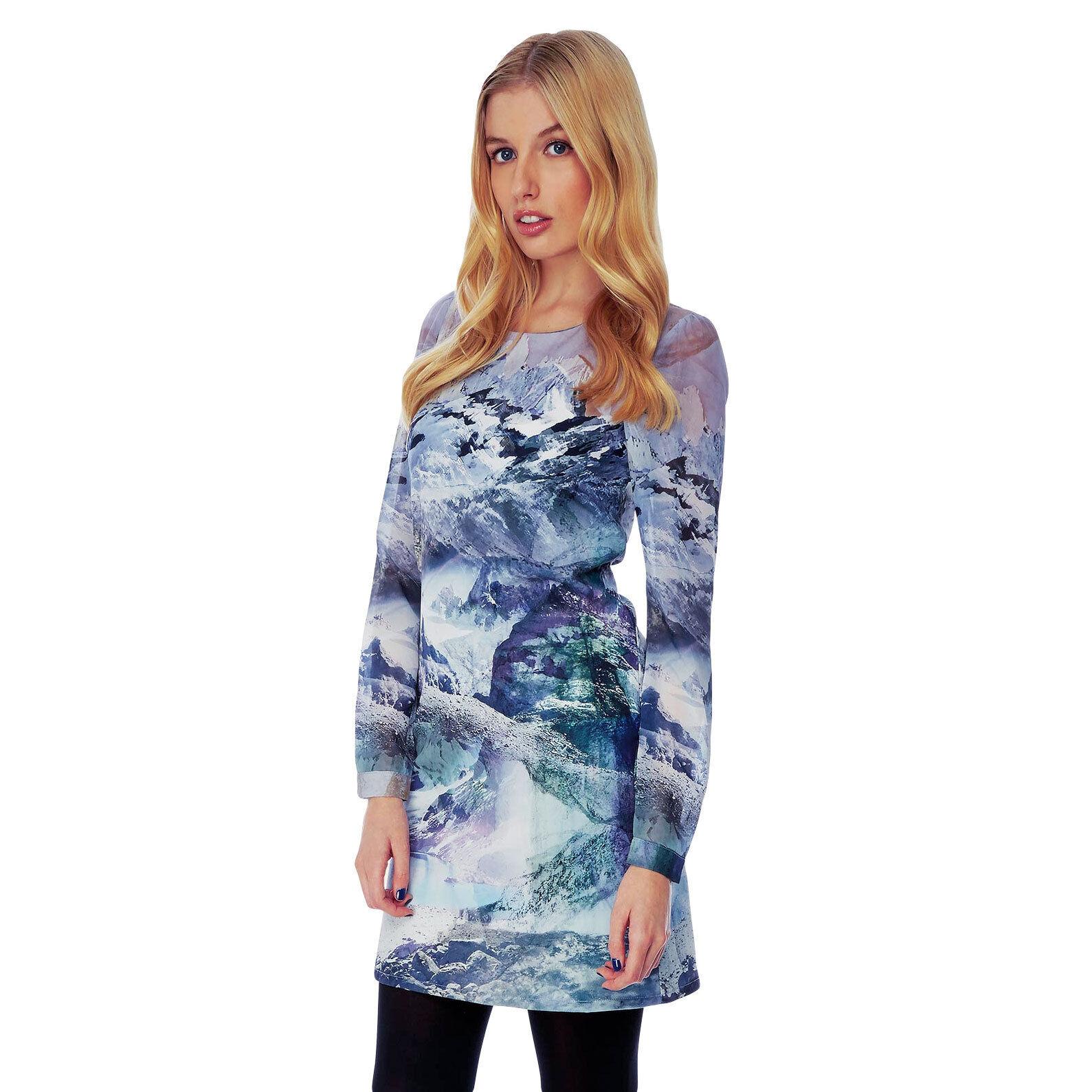 %Yumi Mountain Print Tunic Kleid multi XS-M ()