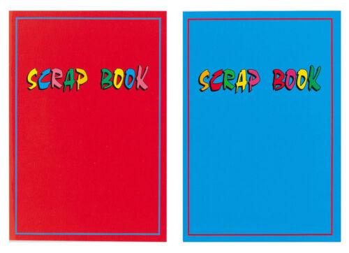 2 x Large Scrapbooks 31cm x 22cm 32 page scrap books Red /& Blue Laminated covers