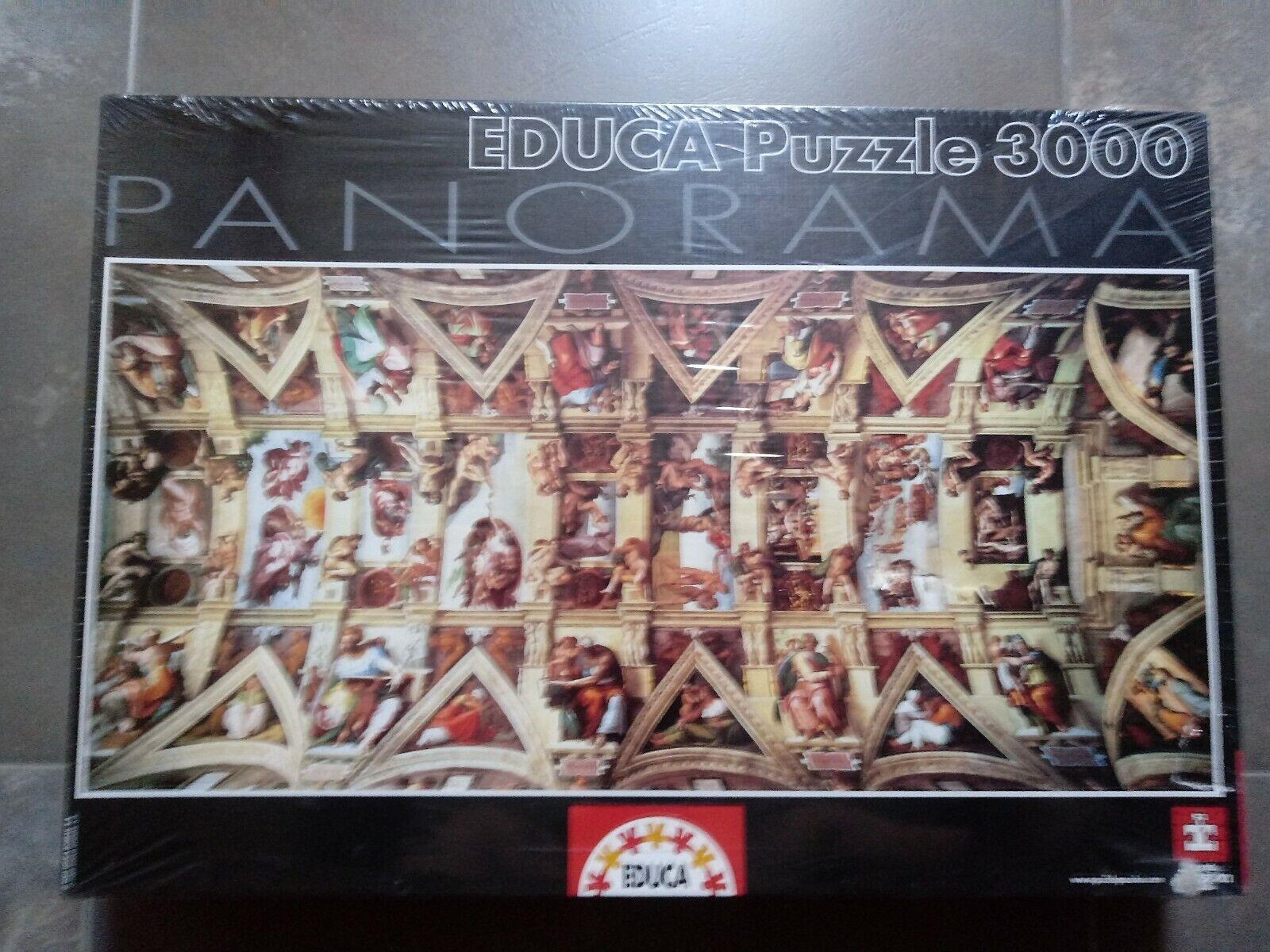 PUZZLE 3000  EDUCA  LA CAPILLA SIXTINA DE MIGUEL ANGEL NUEVO SIN ABRIR. 144 X 68