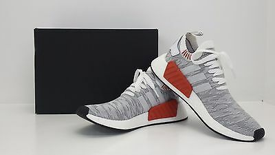 3dc1605a8b8cb Adidas NMD R2 PK Primeknit Nomad Runners White Black BY9410 - BRAND NEW IN  BOX!