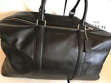 Coach Men's VOYAGER BAG IN SPORT CALF LEATHER F54765-black travel bag-MSRP$695