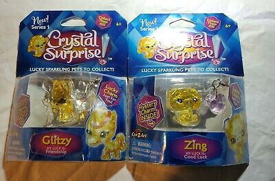 Cra-Z-Art Series 1 Crystal Surprise Lucky Sparkling Pets /& Mystery Charms 5pk