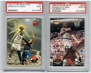 1992-Ultra-SHAQUILLE-O-039-NEAL-Rejectors-RC-Stadium-Club-Members-Only-PSA-9-Lot