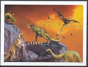 [229] Zaire Bloc 79A** animaux préhistorique - non dentelé. Superbe. Cote : 44 €