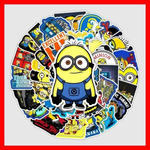 Details about  /50pcs Cartoon Movie Minions Stickers Waterproof Skateboard Guitar Laptop Luggage
