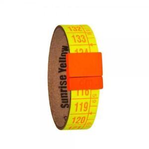 IL-CENTIMETRO-Bracciale-Unisex-Sunrise-Yellow-C2493S-vera-Pelle-giallo-Fluo