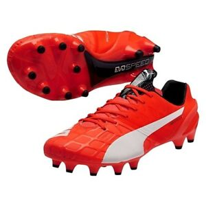 d812ebe31 PUMA EVOSPEED 1.4 FG Red Lava Blast Soccer Cleats Shoes Kicks 7.5 12 ...