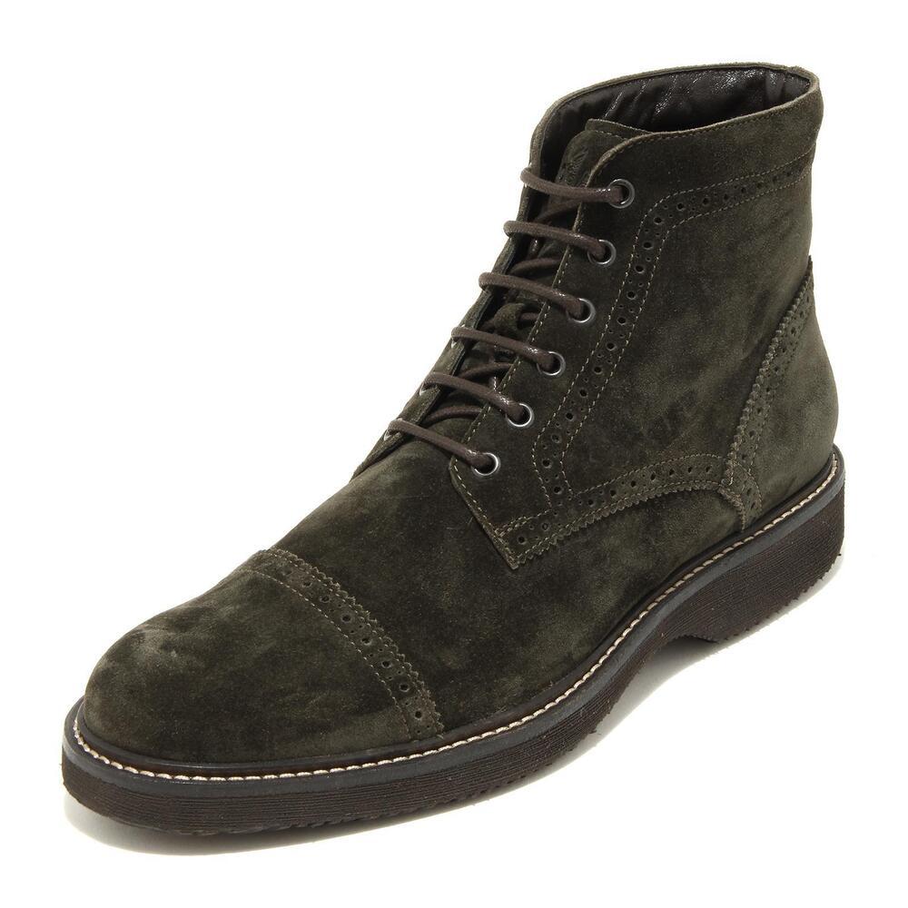 4391g Polacchino Anfibio Uomo Verde Hogan Route Bucature Scarpa Uomo Boots Shoes