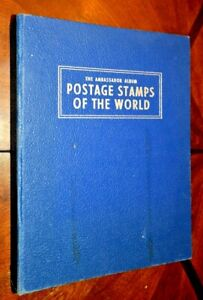 CatalinaStamps: Worldwide Stamp Collection 1372 Stamps in 1960 Harris Album,D318