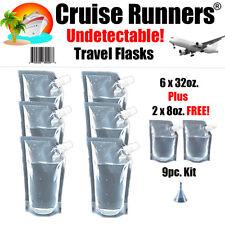 Cruise Ship Flask Kit 32oz Rum Runners Alcohol Liquor Smuggle Booze Wine Bags