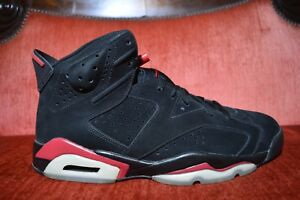 the best attitude a63c4 04f6f Details about NEW Nike Air Jordan 6 VI Black Varsity Red Size 12 Infrared  Hare 384664 061