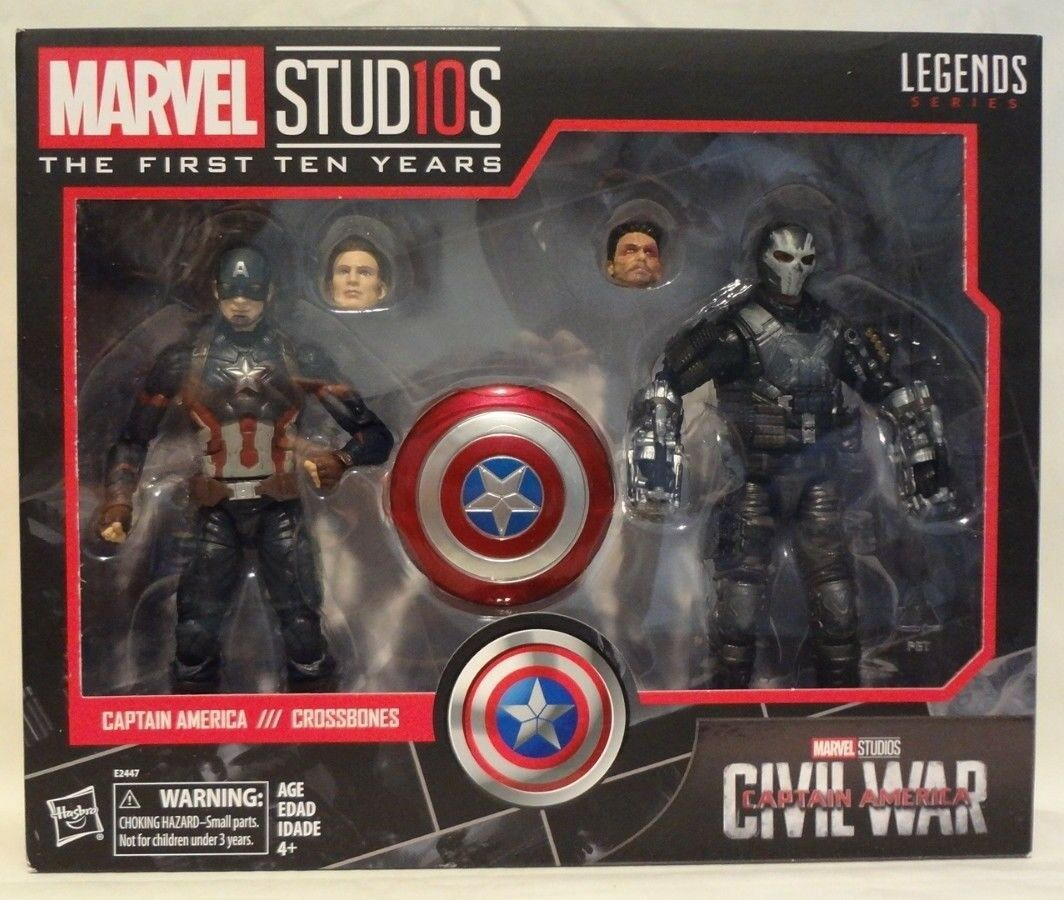 Marvel Legends Legends Legends CAPTAIN AMERICA & CROSSBONES First 10 Years Civil War SEALED NIB 1918a5