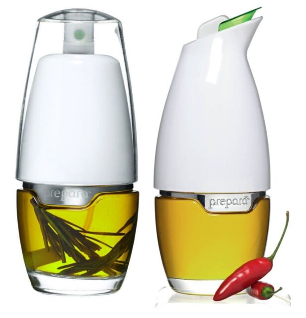 Prepara Tabletop Mister Sprayer or Gourmet Cruet for Oil Vinegar Salad Dressing