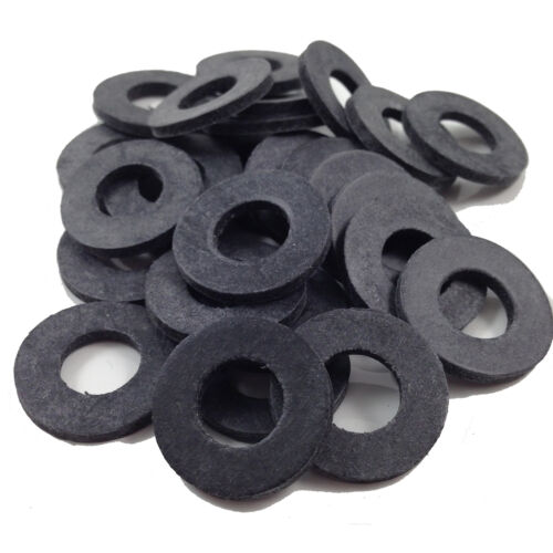 WASHER TAP FWS THICK BLACK RUBBER  WASHERS TO SUIT M5 SCREWS /& BOLTS M5 5mm
