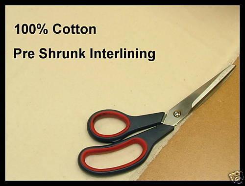 12 mètre PREMIUM 100/% coton pré rétréci d/'interligne forte demande pour une meilleure qualité