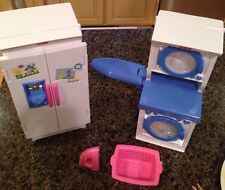 Fisher Price My Sweet Kitchen Fluff n Tumble Laundry And Refrigerator Retired!