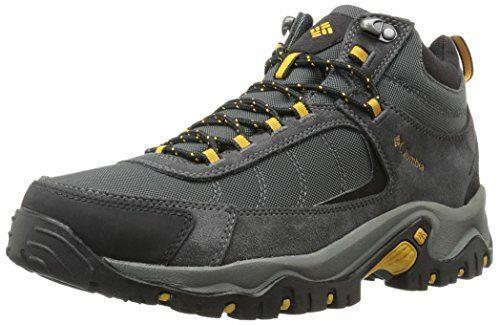 Columbia hombre Mid Impermeable Senderismo Zapato de granito Ridge, gris oscuro, talla 13