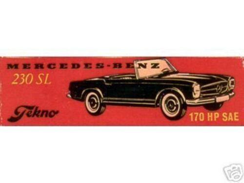 Repro Box Tekno Nr.928 Mercedes 230 SL