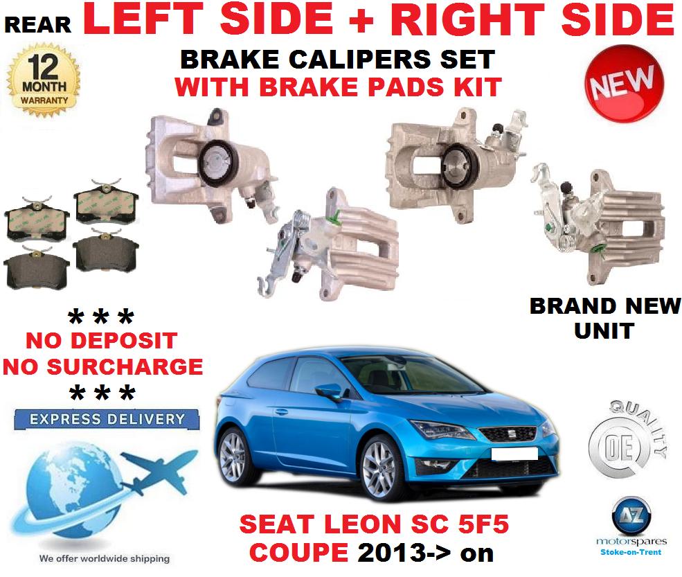 Für Seat Leon Sc 5f5 Coupe 2013-   Hinten Links+Rechts Bremssättel mit Polster