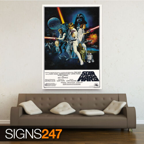 1133 STAR WARS A NEW HOPE VINTAGE Picture Poster Print Art A0 A1 A2 A3 A4