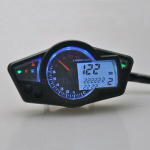 Details about Universal Motorcycle 15000RPM LCD Digital Odometer  Speedometer Gauge Instrument
