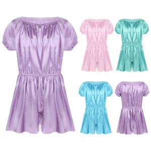 Men-Sexy-Lingerie-Nightwear-Babydoll-Sissy-Underwear-Sleepwear-Satin-Dress-Pants