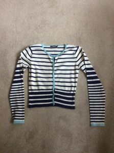 LADIES ASSORTED BLUES AND BEIGE STRIPED ATMOSPHERE LONG SLEEVE CARDIGAN SIZE 12 - Edinburgh, United Kingdom - LADIES ASSORTED BLUES AND BEIGE STRIPED ATMOSPHERE LONG SLEEVE CARDIGAN SIZE 12 - Edinburgh, United Kingdom