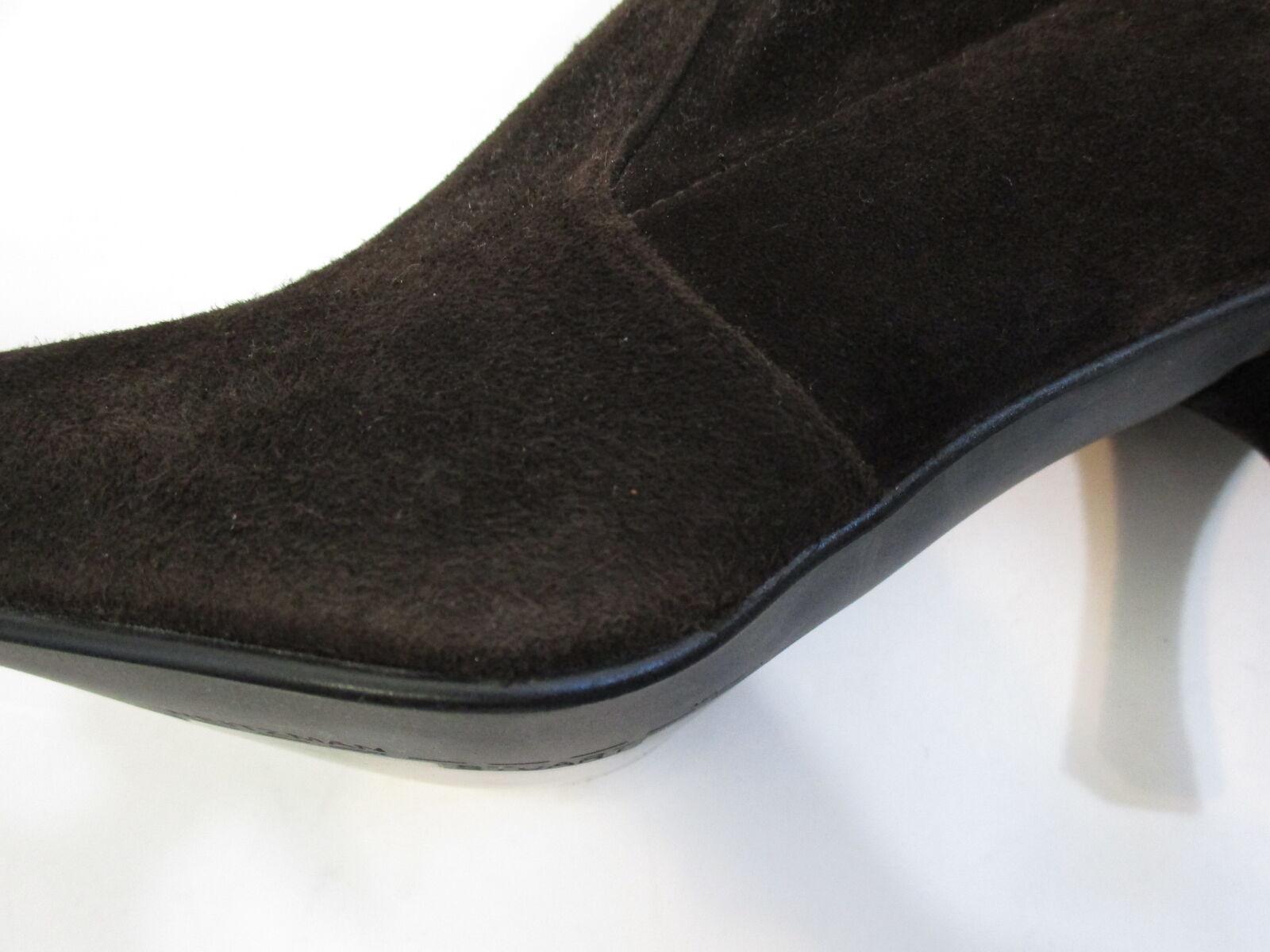 STUART WEITZMAN brown stretch suede pointy toe slim heel knee knee knee high boot sz  8 032cac
