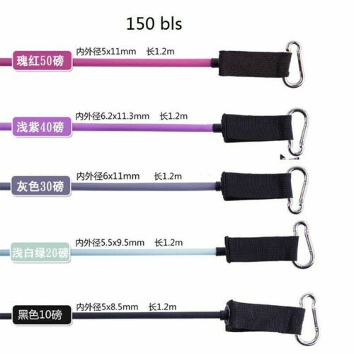 Details about  /Resistance Band Set Women 11 Pcs//set Fitness Yoga Pull Rope TPE Body Exercise