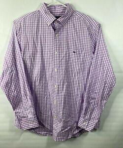 Men-039-s-Long-Sleeve-Plaid-Vineyard-Vines-Classic-Fit-Tucker-Shirt-Size-L