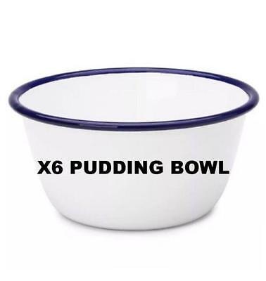 X6 Falcon métal émaillé Pudding Cereal Bowl vaisselle ustensiles de cuisine four Bake Ware 14 cm 16 cm