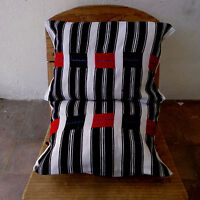 Pair Mexican Pillow Cushion Covers Handwoven Mayan Style Accessories