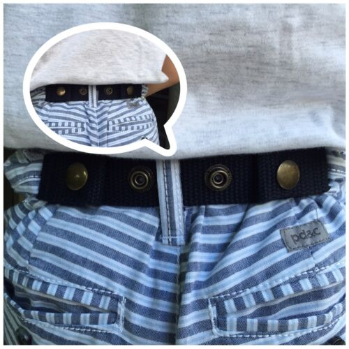 ADJUSTABLE SNAP BELT (A.) for Baby,Toddler Boy&Girl Pant DURABLE 3 pcs. 3 colors