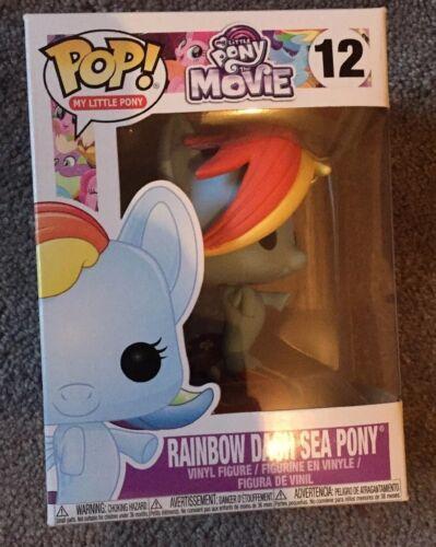 Funko Pop Vinyl My Little Pony Movie Rainbow Dash Sea Pony Figure Model No 12