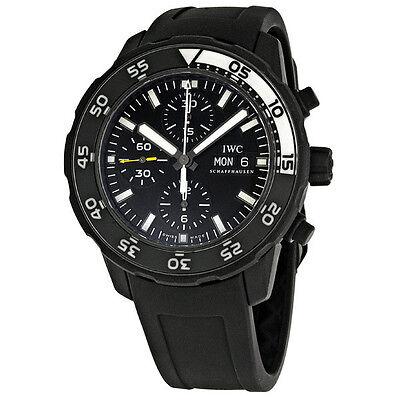 IWC Aquatimer Automatic Chronograph Black Rubber Mens Watch IWC3767-05