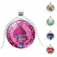Fashion Trolls Necklace Pendant Cartoon Kids Jewelry Toys Children Play Gift