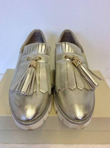 Sport Heel amp; Size £160 Silver Leather Dl 7 Loafers Cost 40 White Wedge TFwxq