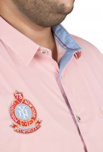 Details about  /Mens 100/% Cotton Casual Shirt Pin Stripe Fabric Pink Color Stretchable Material