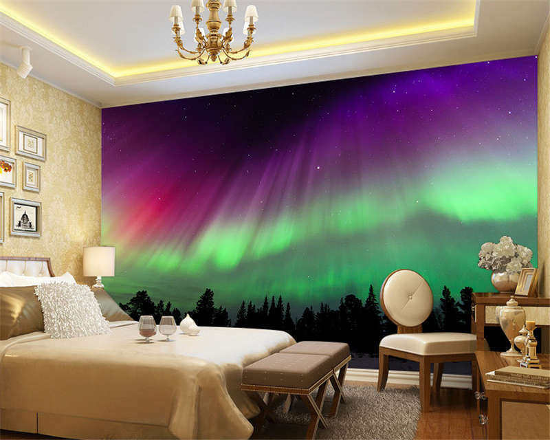 Mysterious Northern Light Full Wall Mural Photo Wallpaper Print Home 3D Decal