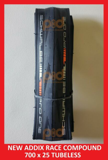 Schwalbe PRO ONE 2019 tubeless clincher 700 x 25 BLACK no retail packaging OEM