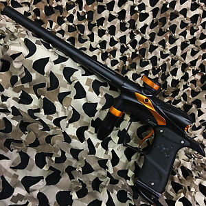 NEW-Dangerous-Power-DP-G5-Electronic-Tournament-Paintball-Gun-Black-Orange