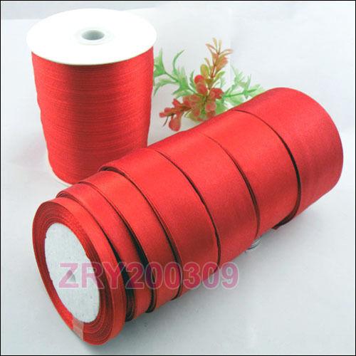 25 Metros Rojo De Cinta De Raso Moño De Pelo craft//gift envolver 6mm-50mm r0193