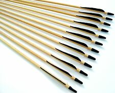"Shiny Black® 26"" Premium Wood Arrows, Turkey Feather & SS Field Point Med. Spine"