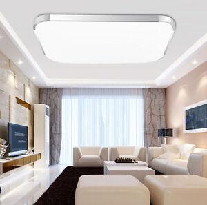 12/18/24W LED Lampe Plafonnier Panneau Lampe de Plafond Lumière Blanc Chaud VD