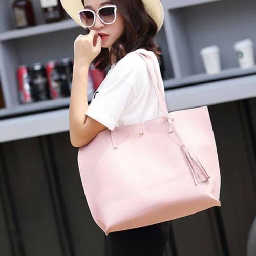 Women PU Leather Designer Tote Big Shoulder Bag Large Handbag Office Ladies Bag
