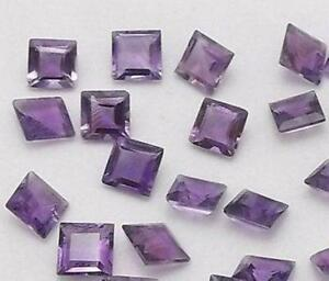 Wholesale-Lot-of-7x7mm-Natural-Purple-AMETHYST-Square-Faceted-Cut-Loose-Gemstone