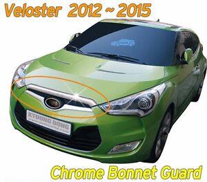 Chrome-Bonnet-Hood-Guard-Garnish-Deflector-K-882-for-Hyundai-Veloster-2012-2017